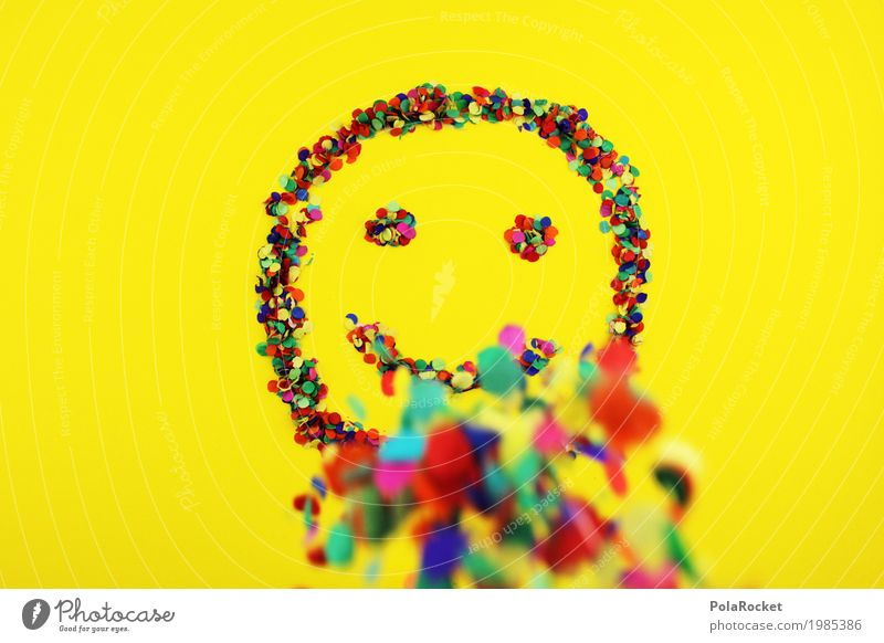 #S# Smile colorful 2 Joy Art Work of art Emotions Happy Happiness Spring fever Yellow Laughter Multicoloured Point Confetti Smiley Rain Eyes Mouth Positive