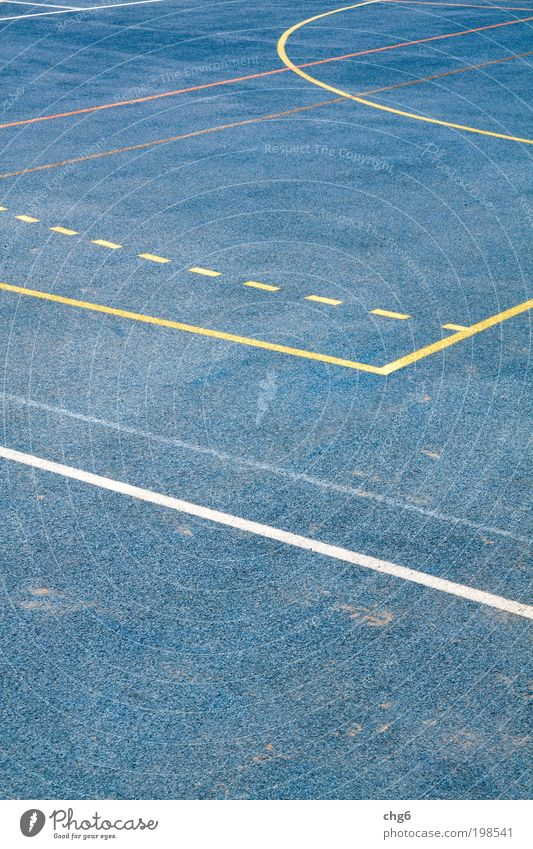 Sporting structures Places Plastic Movement Relaxation Walking Playing Sports Blue Yellow White Joy Leisure and hobbies Sporting grounds Line Abstract