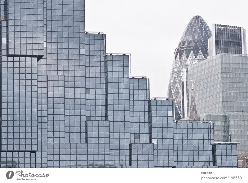 tetris London Capital city Downtown High-rise Building Facade Sharp-edged Simple Elegant Historic Modern Square Cube Gradation 30 St Mary Axe Business