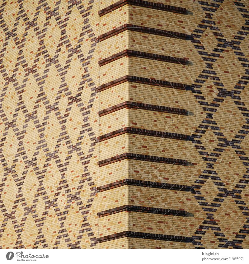 Around the corner ... Mosaic Wall (barrier) Wall (building) Stone Brown Diligent Orderliness Colour photo Subdued colour Exterior shot Detail Day