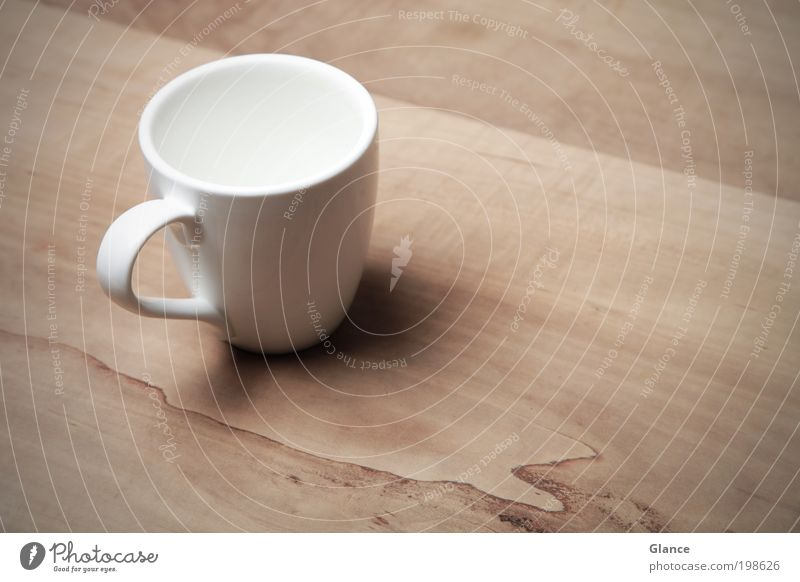 Where's the tea? To have a coffee Beverage Hot drink Coffee Tea Cup Gastronomy Esthetic Elegant Clean Dry Brown White Calm Design Contentment Colour photo