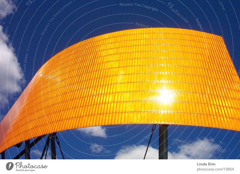 Sky Blue Clouds Orange Art Industry Things Monument Work of art Industrial sculpture