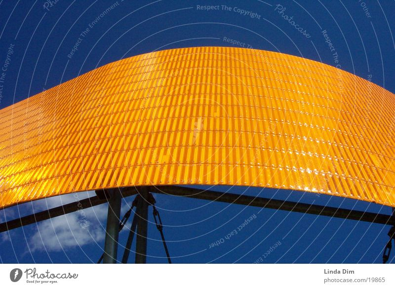 Blue Orange Art Industry Things Monument Sculpture Reflector