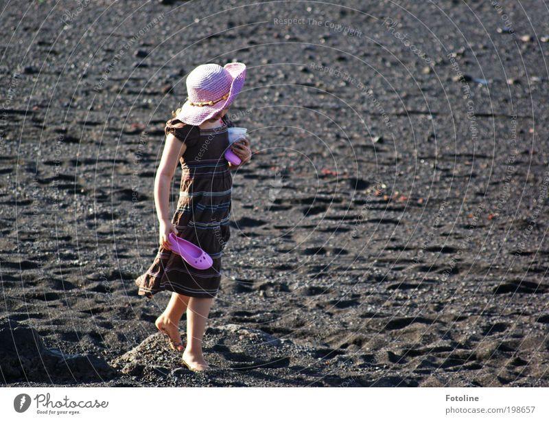Human being Child Nature Hand Girl Summer Beach Feminine Environment Landscape Warmth Coast Legs Bright Feet Weather
