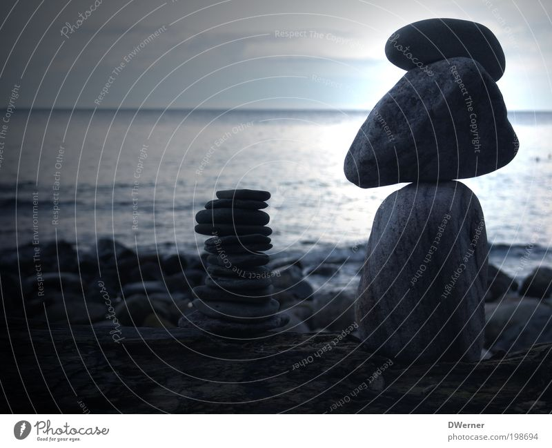 Nature Sky Ocean Blue Beach Calm Stone Landscape Waves Coast Art Environment Time Lifestyle Stand