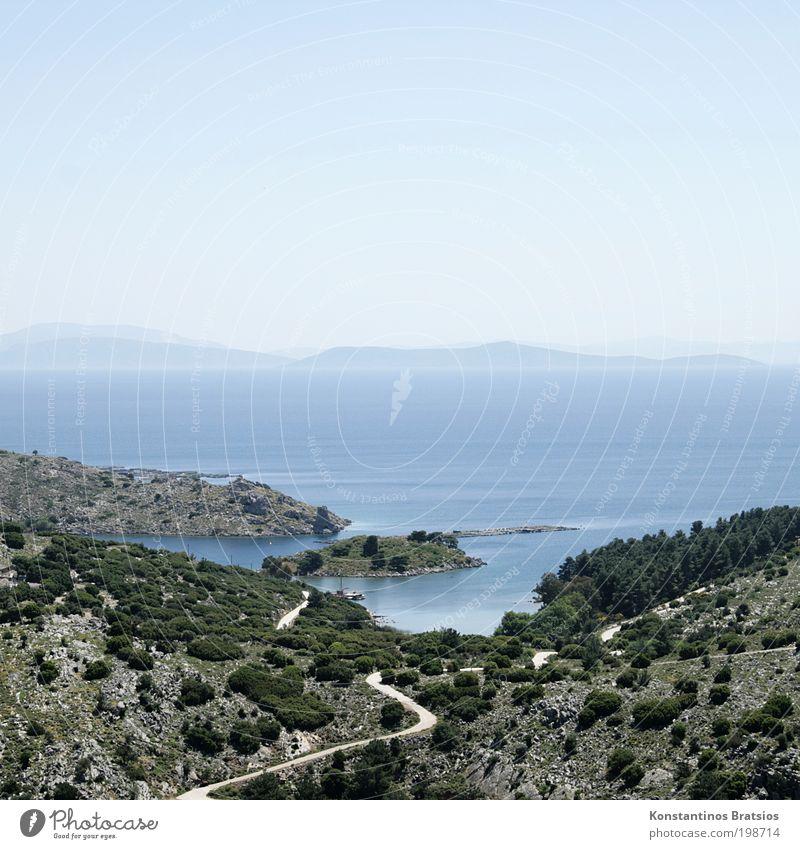 Sky Tree Ocean Plant Summer Vacation & Travel Lanes & trails Warmth Landscape Bright Horizon Trip Europe Island Tourism Bushes