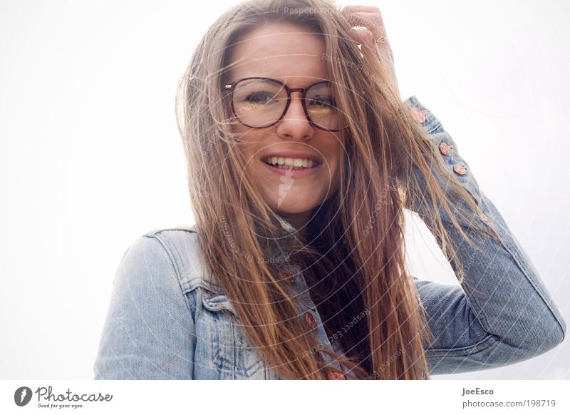 i wish time stood still... Lifestyle Beautiful Contentment Freedom Human being Woman Adults Face Mouth Teeth 1 Fashion Eyeglasses Hair and hairstyles