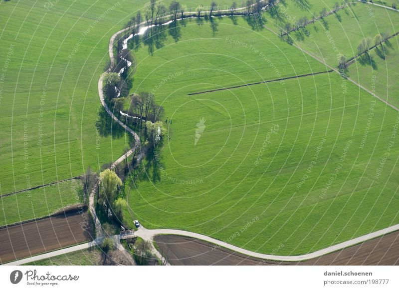 Nature Green Street Spring Lanes & trails Landscape Field Environment Traffic infrastructure Crossroads Aerial photograph Road junction Transport