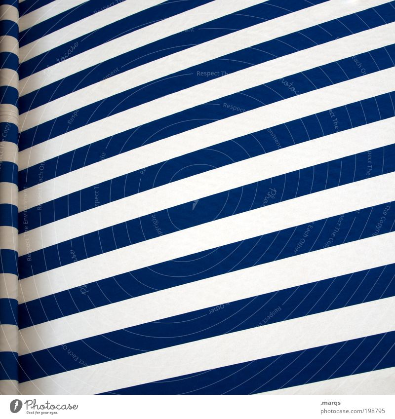 awning Style Design Leisure and hobbies Vacation & Travel Trip Summer vacation Sun blind Line Stripe Relaxation Positive Blue White Optimism Colour Perspective