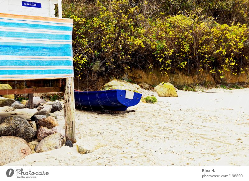 BeachStillLife Relaxation Vacation & Travel Trip Ocean Nature Landscape Sand Coast Lakeside Baltic Sea Kühlungsborn Wait Authentic Blue Green Contentment
