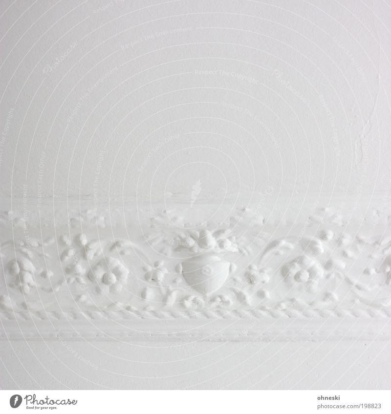 Ornament (400) Living or residing Flat (apartment) Interior design Decoration Room Stucco ceiling Craftsperson Painter Old Bright Retro White Esthetic