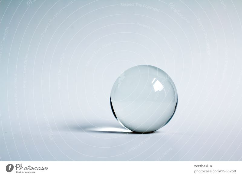 glass ball Ball Glass Glass ball Horoscope Circle Crystal Crystal ball Sphere Round Copy Space Fortune-telling Marble