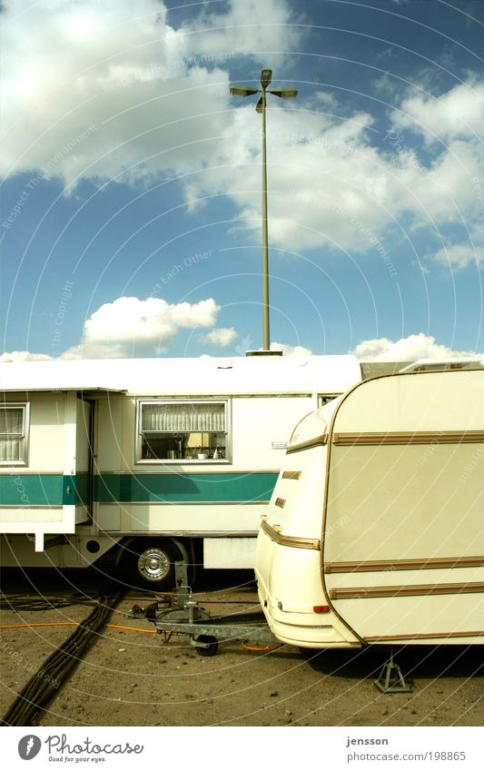 Sky Summer Clouds Style Freedom Flat (apartment) Leisure and hobbies Living or residing Event Fairs & Carnivals Camping Workplace Mobile home Caravan Trailer