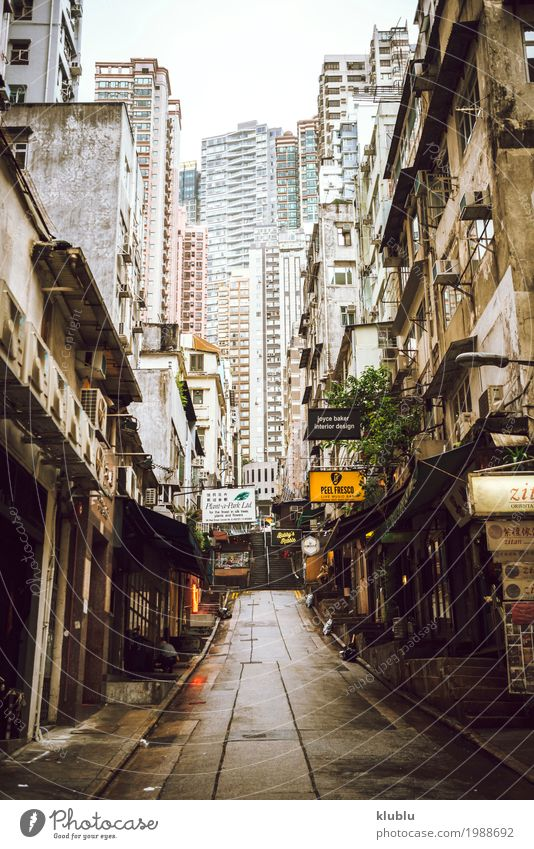 View of street of Hong Kong Vacation & Travel Landscape Adults Street Life Lifestyle Movement Group Tourism Trip Modern Action Stand Sidewalk Asia Pedestrian