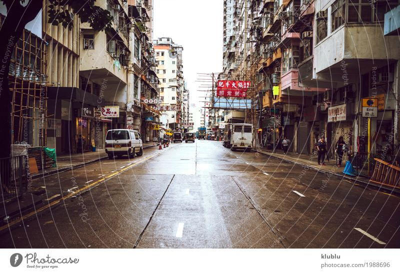 View of street of Hong Kong Lifestyle Vacation & Travel Tourism Trip Adults Group Landscape Pedestrian Street Movement Stand Modern people crowd crossing