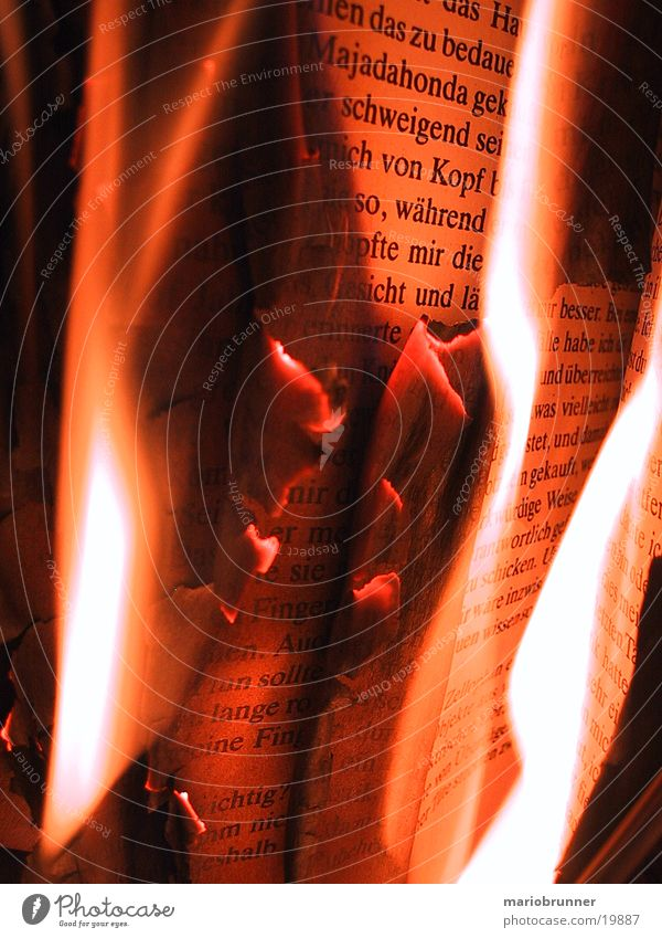 Warmth Book Blaze Reading Physics Hot Things Burn Literature