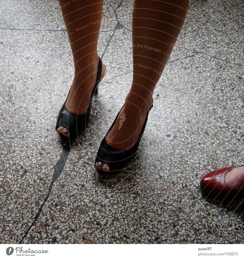 Woman Feet 3 Symbols and metaphors Stone floor Woman's leg