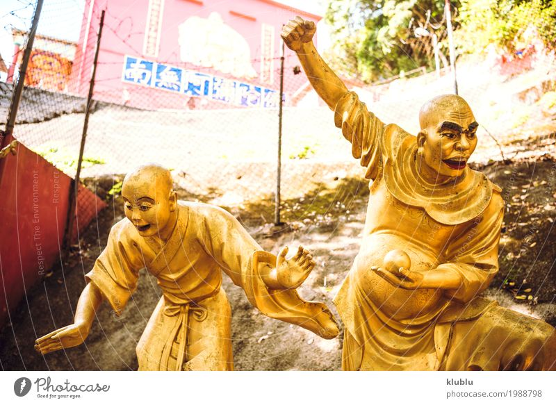 golden statues in 1000 Buddhas Temple in Hong Kong. Beautiful Face Vacation & Travel Tourism Decoration Art Culture Architecture Monument Street Lanes & trails