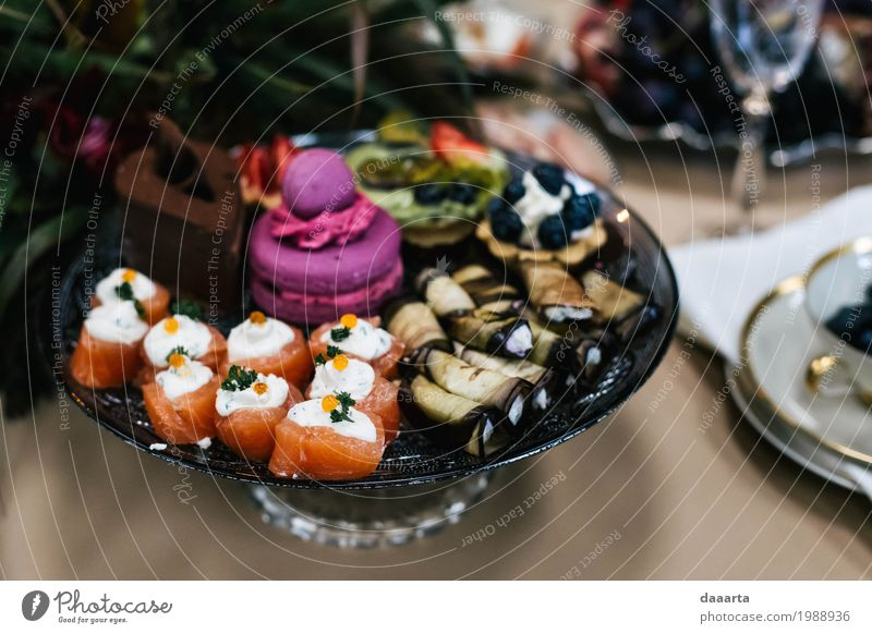 fancy romantic snacks Food Fish Vegetable Roll Cake Candy Snack makaroons Plate Lifestyle Elegant Style Design Joy Harmonious Leisure and hobbies Adventure