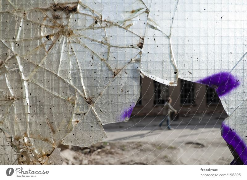 Window Glass Gloomy Broken Transience Decline Trashy Past Slice Shard Thrifty Structures and shapes Time Industrial heritage