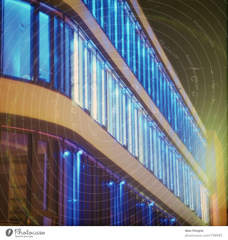 Funky Office Lifestyle Style Design House (Residential Structure) Night life LED Building Architecture Office building Window Cool (slang) Bright Hip & trendy