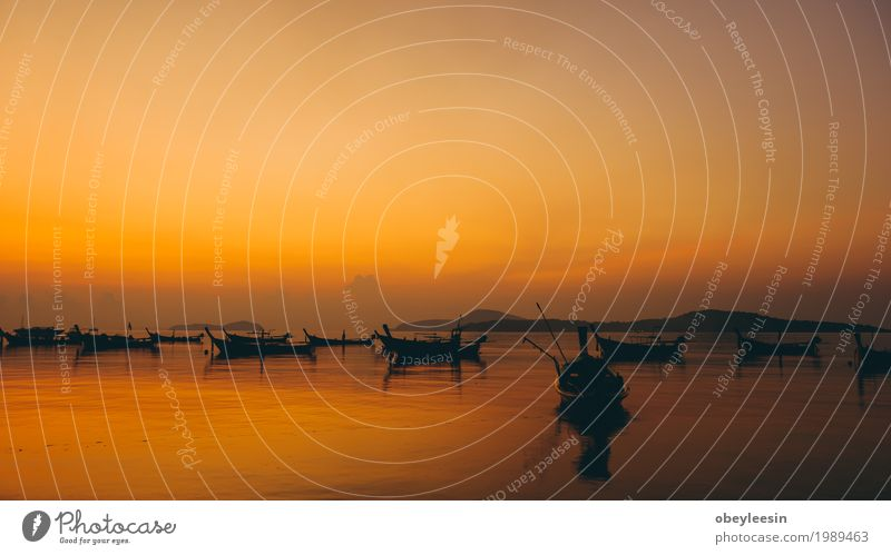 The silhouette of Canoe at sunset Nature Landscape Ocean Joy Beach Lifestyle Style Art Waves Adventure Bay Artist