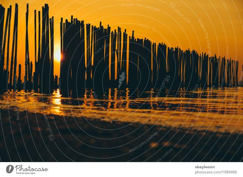 The silhouette of Canoe at sunset Nature Landscape Ocean Beach Lifestyle Style Art Sand Adventure Bay Artist