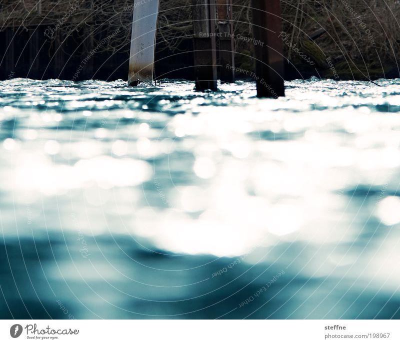 Water Coast Waves Glittering Wet Lakeside Jetty River bank Lake Boating trip