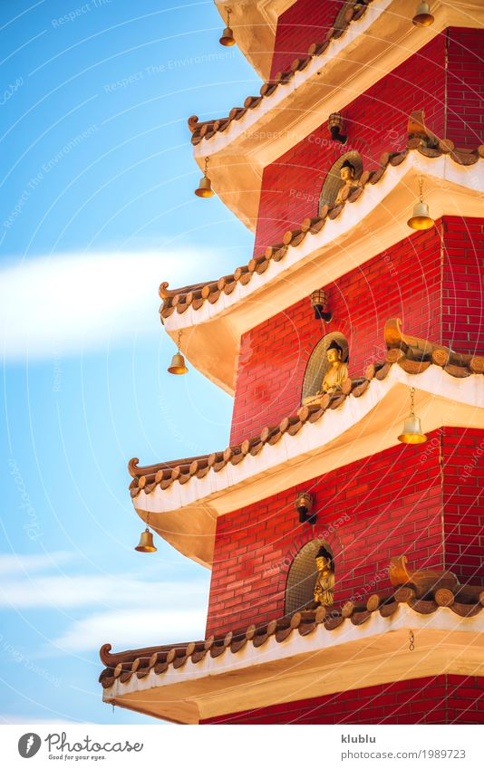 Temple in Hong Kong Face Harmonious Tourism Art Culture Nature Sky Building Architecture Monument Old Historic Funny Red Wisdom Peace Religion and faith