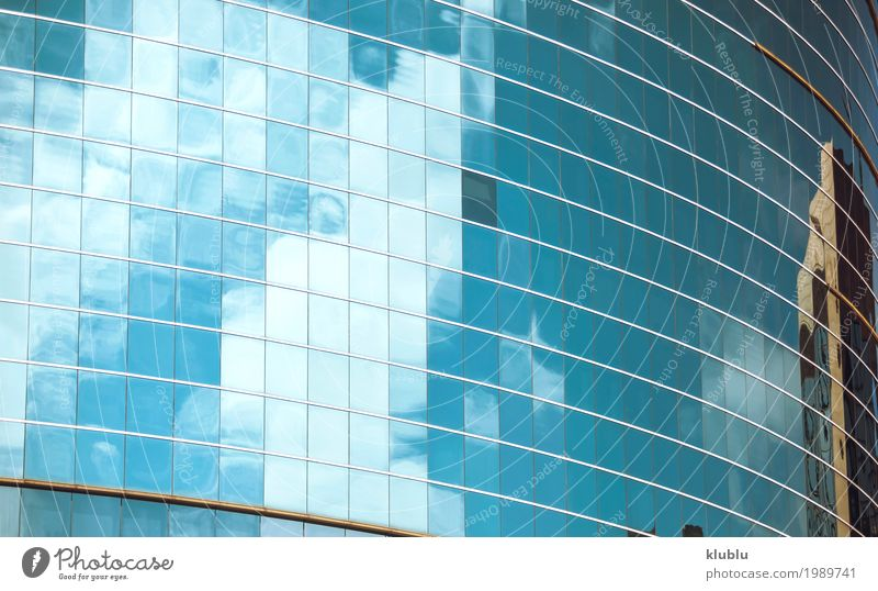 sky mirrored in the windows of the office building Sky Vacation & Travel Blue Landscape Clouds House (Residential Structure) Architecture Street Life Building