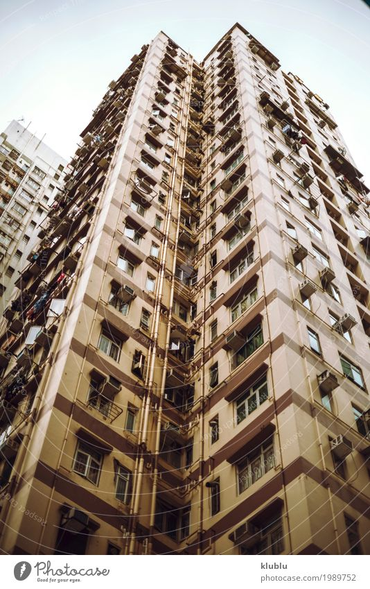 Big flat-box buildings in Hong Kong, China Vacation & Travel Green Landscape House (Residential Structure) Architecture Street Life Building Tourism Facade