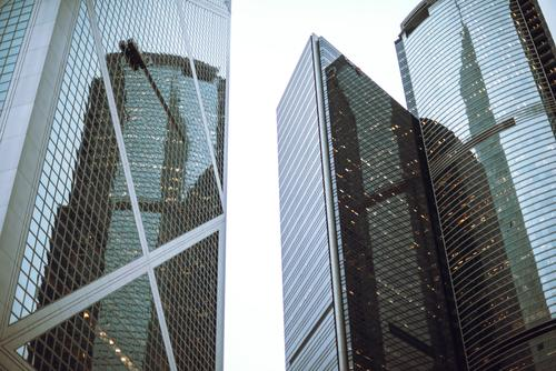 Hong Kong is an International metropolis. Life Vacation & Travel Tourism Trip House (Residential Structure) Mirror Office Landscape Building Architecture Facade