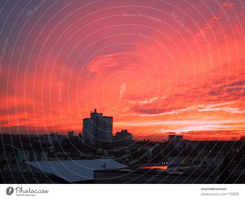 fb-sun_01 Sunset Red Clouds Sky Fellbach Dusk Blaze