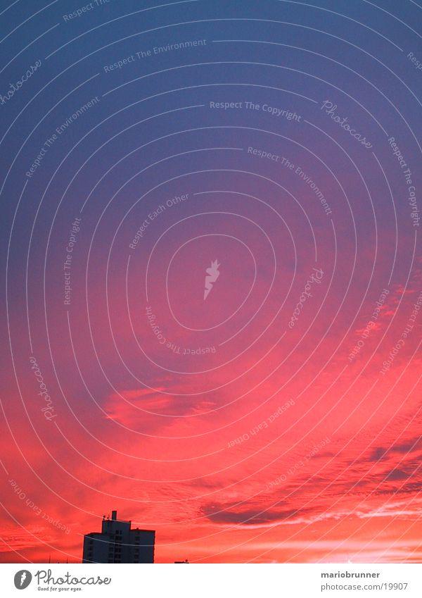 fb-sun_02 Sunset Red Clouds Sky Fellbach Dusk Blaze