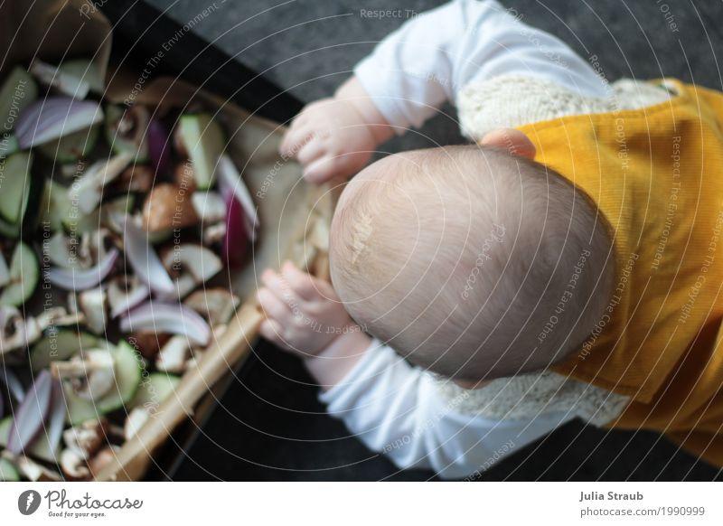 Food barrel :D Vegetable Onion Button mushroom Zucchini Nutrition Dinner Organic produce Vegetarian diet Finger food Baking tin Feminine Baby Infancy 1