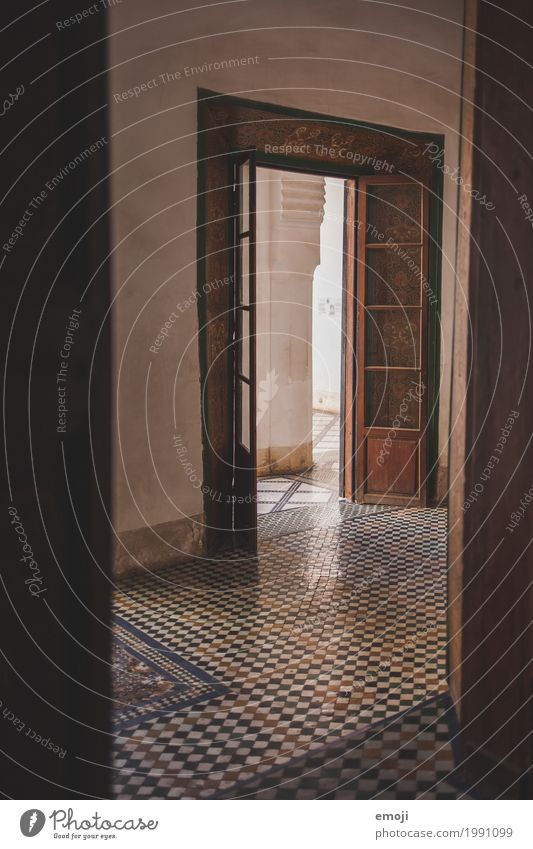 Morocco House (Residential Structure) Palace Door Corridor Tourist Attraction Mosaic Old Dark Colour photo Subdued colour Interior shot Deserted Day