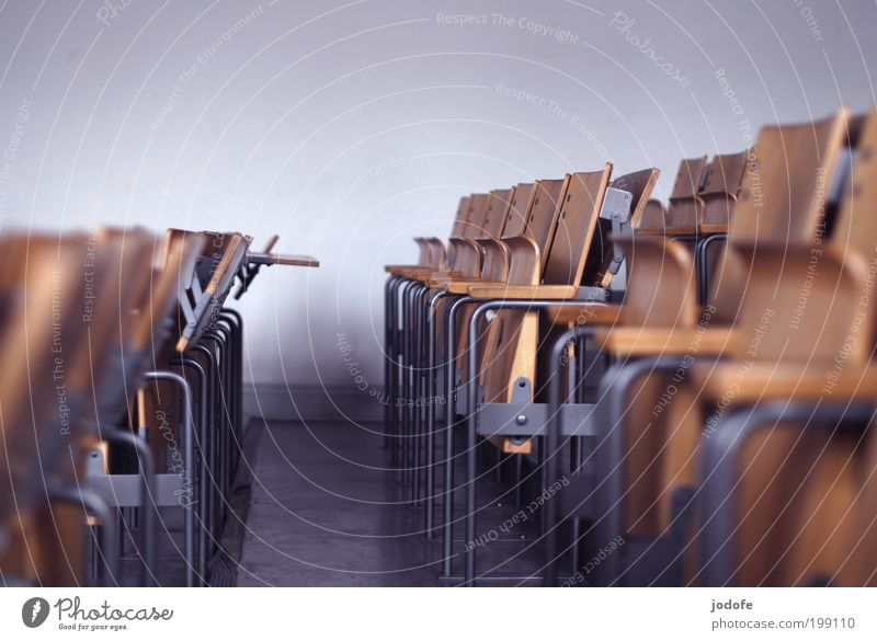 Loneliness Going Empty Academic studies Education Culture Professional training Assembly Chair Row of seats Event Lecture hall Classroom Folding chair Hall