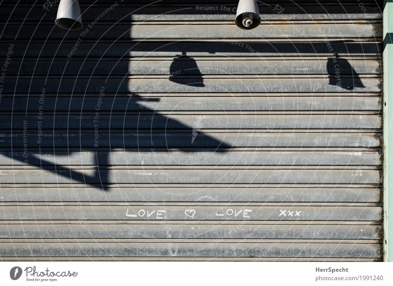 Love xxx Downtown House (Residential Structure) Building Facade Metal Sign Characters Infatuation Romance Lampshade Store premises Closed scrollbar Disk