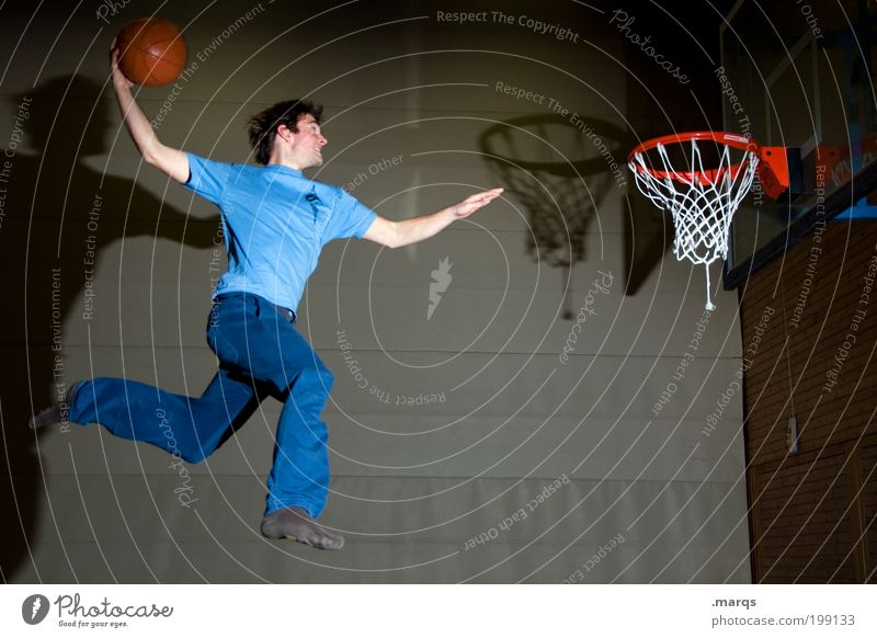 slam Life Leisure and hobbies Sports Fitness Sports Training Ball sports Sportsperson Basketball Basketball basket Sporting Complex Masculine