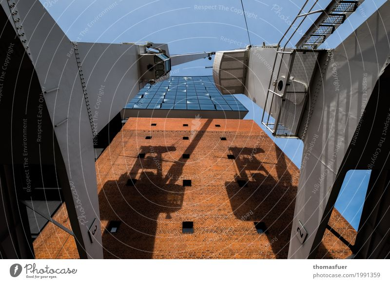 Elbphilharmonie, cranes Crane Architecture Concert Hall Berlin Concert House Hamburg Town Port City Downtown Manmade structures Building Wall (barrier)