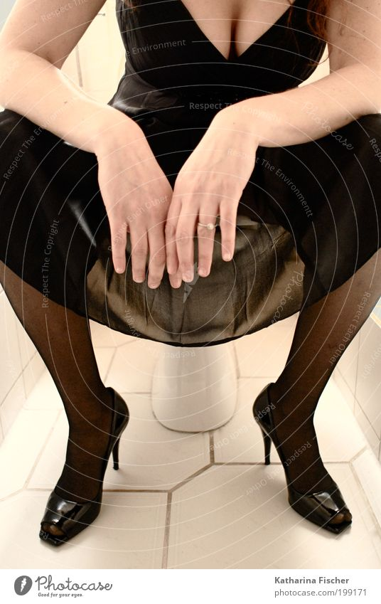Human being Woman Hand Black Eroticism Adults Feminine Stone Fashion Sit Clothing Concrete Photography Fingers Bathroom Dress