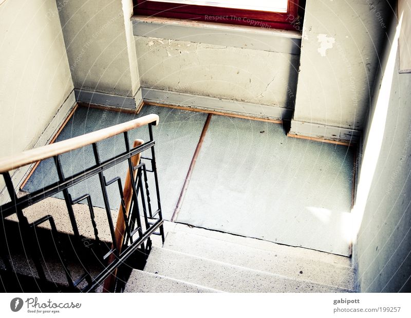 Old House (Residential Structure) Window Wall (building) Lanes & trails Wall (barrier) Flat (apartment) Interior design Poverty Stairs Future Change Living or residing Transience Moving (to change residence) Handrail
