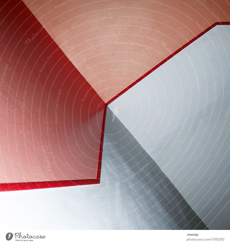 Red Wall (building) Style Wall (barrier) Line Architecture Design Lifestyle Esthetic Pure Pattern Illustration Economy Positive Hip & trendy Abstract