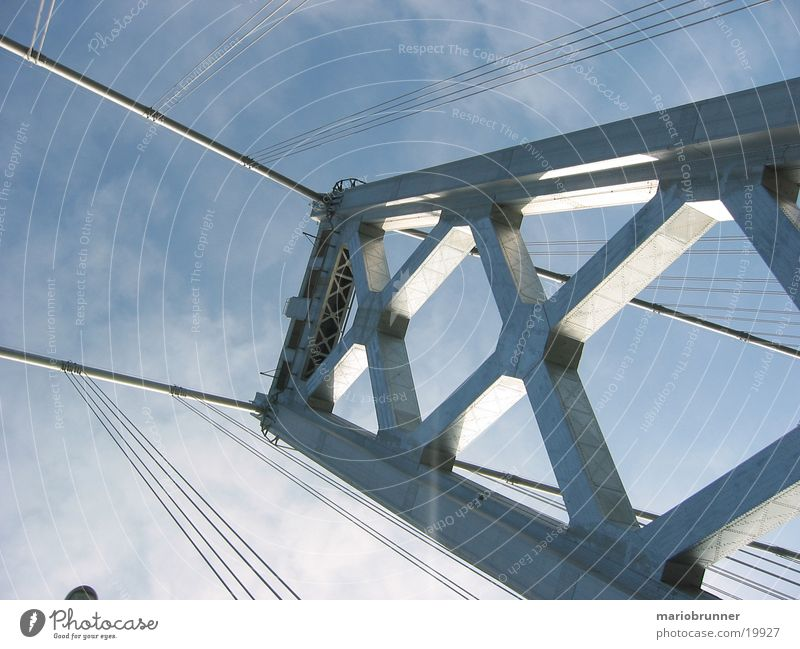 baybridge San Francisco California Transport Steel Suspension bridge Architecture Bridge USA Street Highway Rope Oakland Bay Bridge