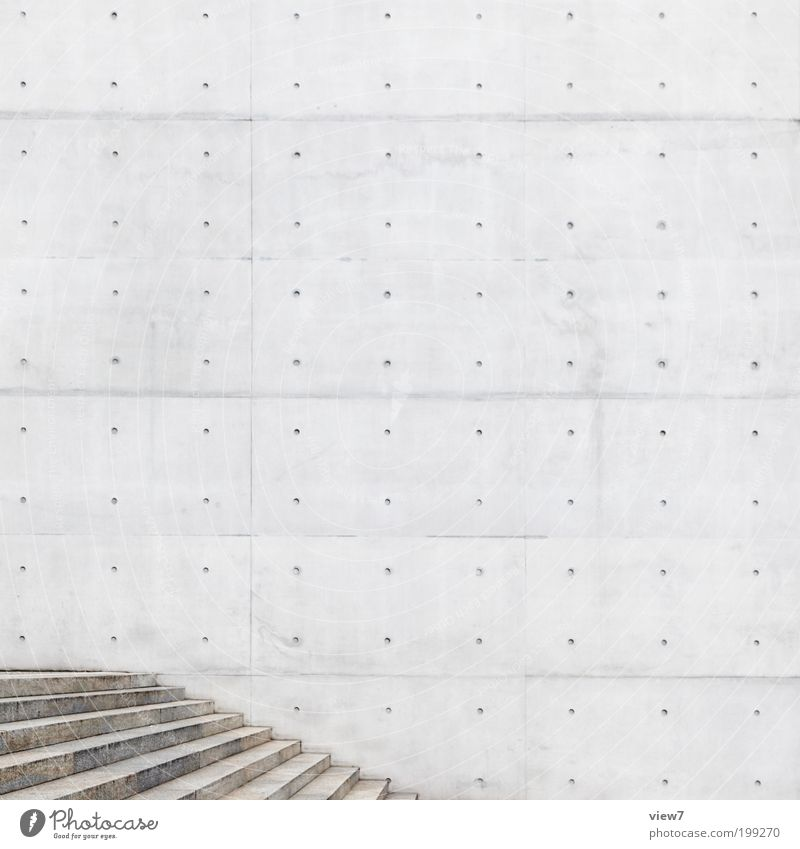 City Wall (building) Gray Stone Wall (barrier) Line Architecture Elegant Concrete Facade Perspective Stairs Modern Arrangement Esthetic