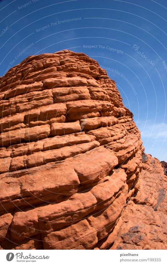 Nature Old Sky Blue Red Summer Vacation & Travel Mountain Stone Warmth Sand Dirty Environment Large Rock