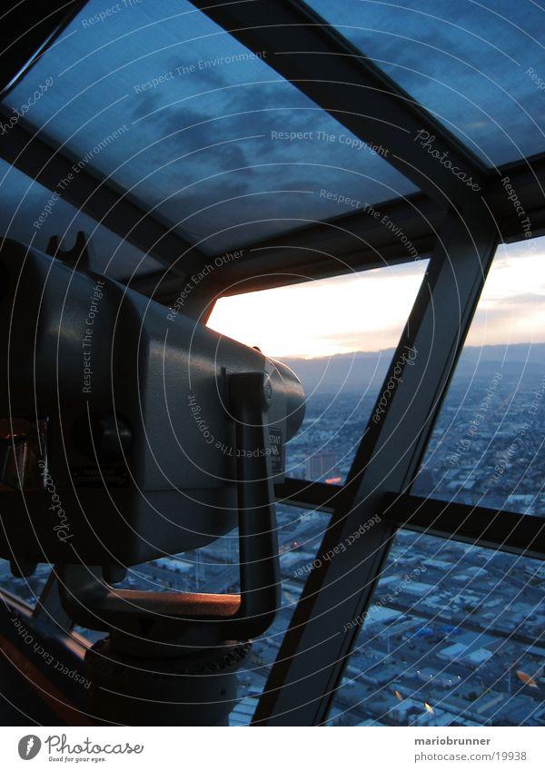 stratosphere_tower_02 Las Vegas Stratosphere Las Vegas Sunset Nevada Casino Hotel Telescope Binoculars Vantage point Tower Level Sky Tall Bird's-eye view