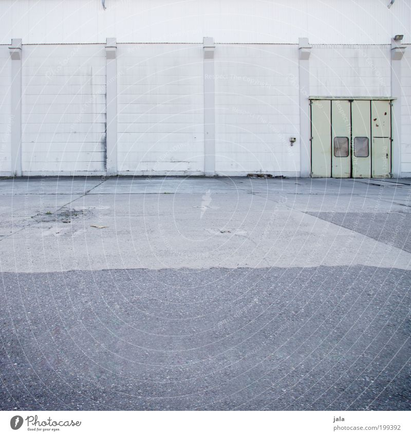Wall (building) Gray Building Wall (barrier) Door Places Gloomy Industrial Photography Simple Manmade structures Factory Gate Industrial plant Factory hall