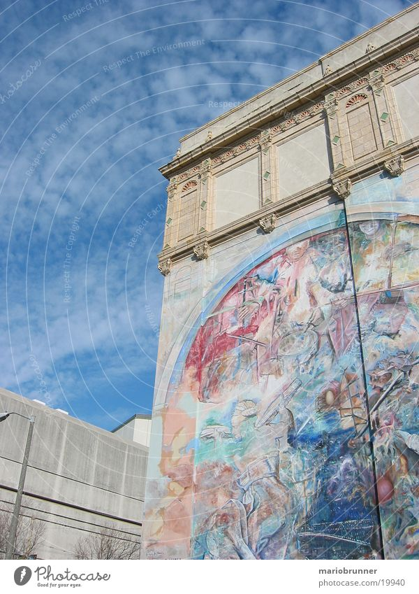 art_wall Wall (barrier) Painting and drawing (object) Art San Francisco Wall (building) Architecture Sky Decoration Painting (action, work) graffiti USA