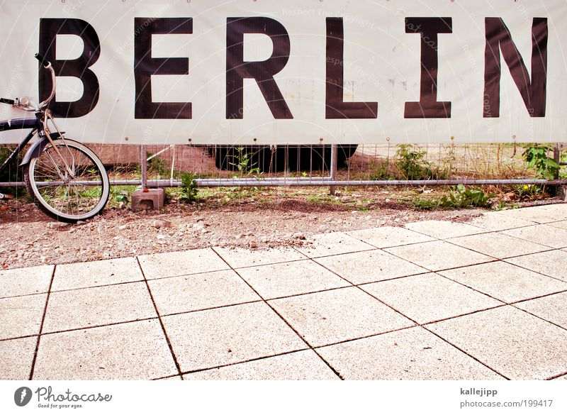 bicycle city Lifestyle Leisure and hobbies Vacation & Travel Tourism Trip Sightseeing City trip Bicycle Art Discover Relaxation Hip & trendy Berlin Poster